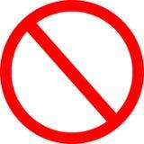 niedozwolony znak Fotografia Royalty Free
