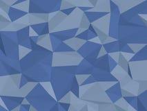 Niedrig-Polyblauer Hintergrund Lizenzfreie Stockbilder