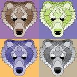 Niedrige gezeichnete Polybären eingestellt Stockbilder