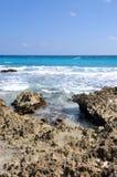 Niedrige Gezeiten in Cancun Stockbild