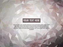 Niedrige graue Hintergrundpolyzusammenfassung für Grafikdesign Lizenzfreies Stockbild
