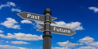 Niedrige Perspektive von letzten und zukünftigen Pfeilen gegen Himmel lizenzfreie abbildung