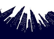 Niedrige Perspektivenansicht Nachtder modernen Stadtstraße Flache Illustration des Weinlesereise-Plakats Panorama Monaco- lizenzfreie stockbilder