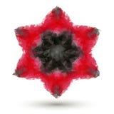 Niedrige Poly6 geangelter Stern Stockbild