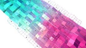 Niedrige Poly-Oberfläche 3D mit Fliegengitter oder -masche und schwarze Bereiche als Element winken Grafik zu Weiches geometrisch vektor abbildung