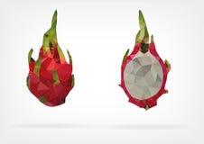 Niedrige Poly-Pitaya-Frucht Lizenzfreie Stockfotografie