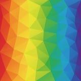 Niedrige Polyart des geometrischen zerknitterten dreieckigen Hintergrundes der Farbspektrum-Zusammenfassung Lizenzfreie Stockfotos