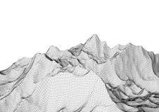 Niedrige Polygebirgslandschaft Polygonaler Hintergrund Lizenzfreies Stockfoto