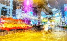Niedrige Polygonzusammenfassungstapete Lizenzfreie Stockbilder