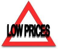 Niedrige Preise Stockbilder