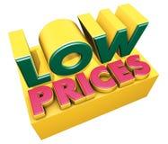 Niedrige Preise Lizenzfreies Stockbild