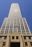 Niedrige Winkelsicht der Empire State Building Lizenzfreie Stockfotografie