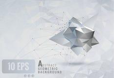 Niedriger abstrakter geometrischer Formschablonenpolyhintergrund Lizenzfreie Stockbilder