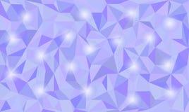 Niedriger abstrakter Polyhintergrund in der Kurve vektor abbildung