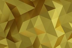 Niedriger goldener Polyhintergrund, Wiedergabe 3D Stockfotos