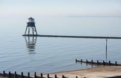 Niedriger Leuchtturm bei Dovercourt, Essex, Großbritannien Lizenzfreie Stockfotos
