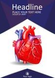 Niedriger menschlicher HerzPolybucheinband Akademisches Design Vektor Stockbilder