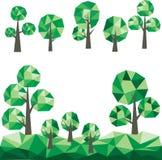 Niedriger Polybäume Clipart lizenzfreie stockfotos