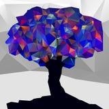 Niedriger Polybaum des abstrakten Winters farb Lizenzfreie Stockfotos