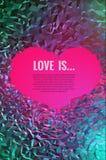 Niedriger Polyhintergrund der abstrakten Kunst über Liebe Lizenzfreie Stockfotografie