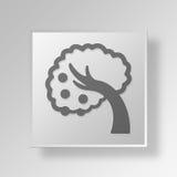 niedriges hängendes Knopf-Ikonen-Konzept der Frucht-3D Lizenzfreies Stockfoto