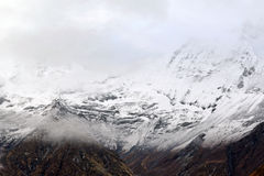 Niedriges Lager Annapurna, Himalaja-Berge, Nepal Lizenzfreie Stockfotografie