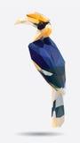 Niedriges Polygon des Hornbill Lizenzfreie Stockbilder