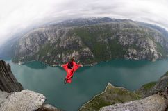 NIEDRIGES springendes Norwegen Lizenzfreie Stockbilder