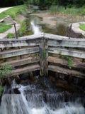 Niedrigwasser am Verschluss des Swains Stockfotos