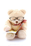 niedźwiadkowy czytelniczy miś pluszowy Obraz Royalty Free
