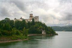 Niedzica城堡波兰 库存图片