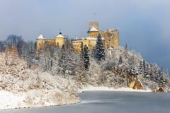 Niedzica城堡美丽的景色  免版税库存图片
