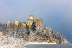 Niedzica城堡美丽的景色  免版税库存照片