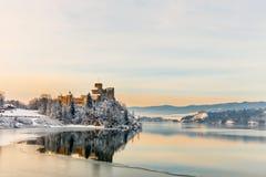 Niedzica城堡美丽的景色  库存照片