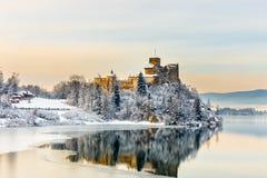 Niedzica城堡,波兰看法  免版税库存照片