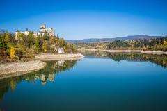 Niedzica城堡,波兰,欧洲美丽的景色  免版税库存图片
