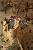 Niedzica castle. Historic miniature model of Niedzica Castle (also known as Dunajec Castle) in Poland. vertical composition royalty free stock photos