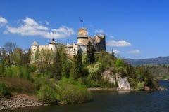 Niedzica Castle. Dunajec castle in Niedzica by lake Czorsztyn, Poland royalty free stock images