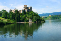 Niedzica castle. Czorsztyn castle in the background (Pieniny, Poland Royalty Free Stock Photos