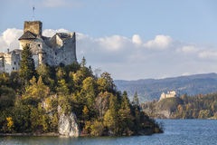 Niedzica Castle at Czorsztyn Lake Royalty Free Stock Photography