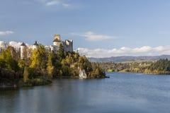 Niedzica Castle at Czorsztyn Lake Stock Images