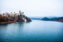 Niedzica Castle at Czorsztyn Lake in Poland Stock Photography