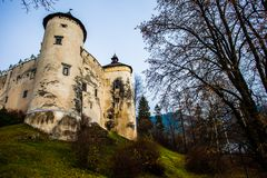 Niedzica Castle at Czorsztyn Lake in Poland Stock Photography