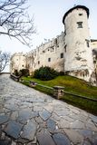 Niedzica Castle at Czorsztyn Lake in Poland Stock Images