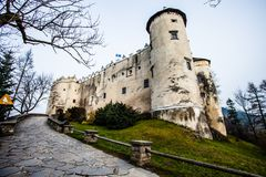 Niedzica Castle at Czorsztyn Lake in Poland Royalty Free Stock Image