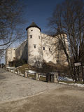 Niedzica Castle at Czorsztyn Lake in Poland Stock Image