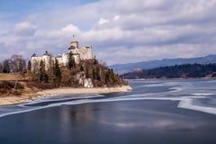 Niedzica Castle and Czorsztynskie Lake in Poland stock photos