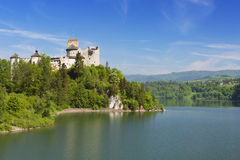 The Niedzica Castle in the Pieniny mountains in Poland stock images