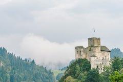 Niedzica Castle, Poland. Medieval Niedzica Castle, also known as Dunajec Castle. Poland stock photo