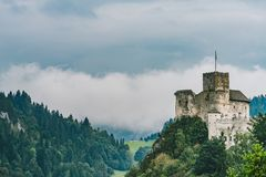 Niedzica Castle, Poland. Medieval Niedzica Castle, also known as Dunajec Castle. Poland stock photos